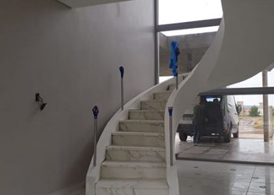 Escalera Neolith Calacatta Silk